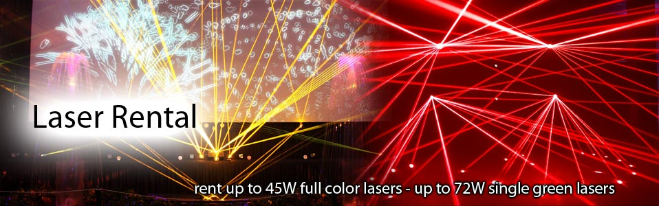 Laserworld laser rental