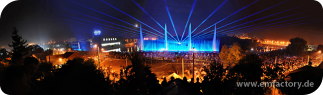 EMF Fountain with Lasers