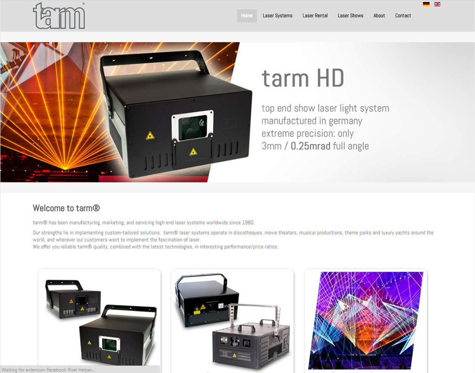tarm new website