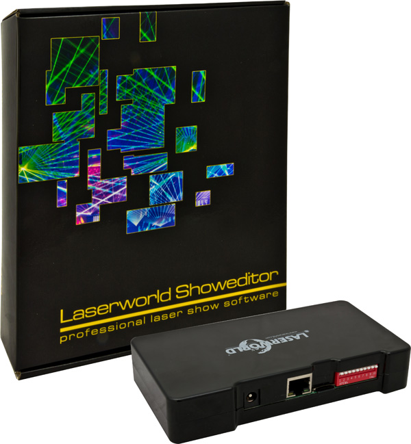 Laserworld Showeditor 2015 packaging and ShowNET front right web
