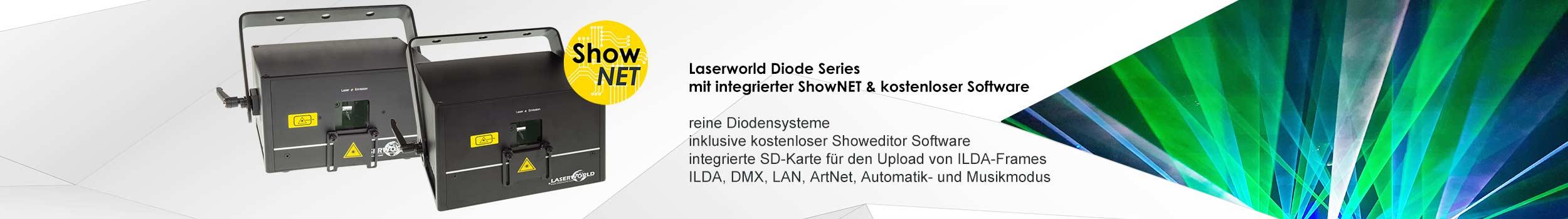 Laserworld Diode Serie mit ShowNET