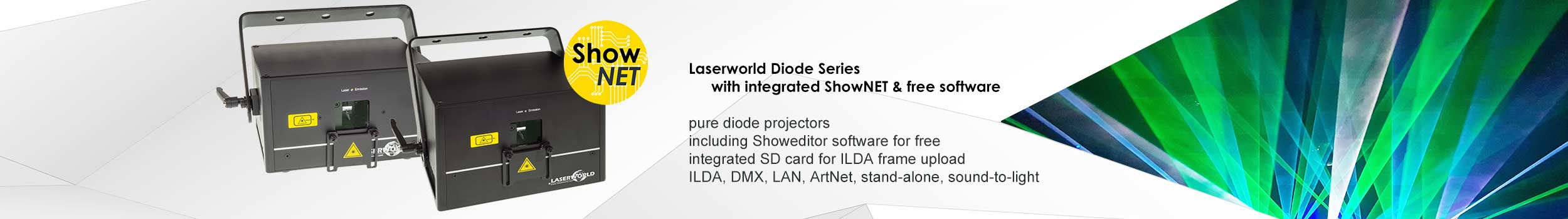 Laserworld Diode Series with ShowNET