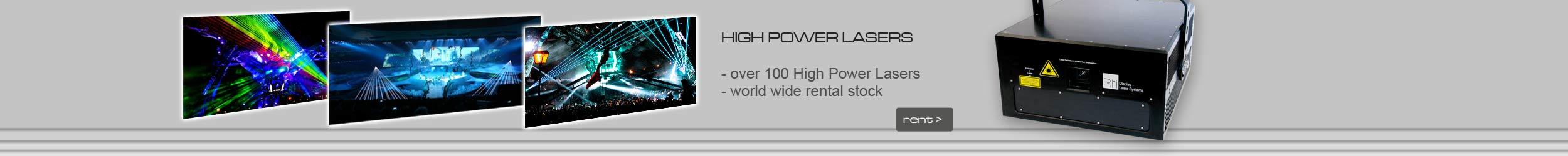 Rent a laser light show