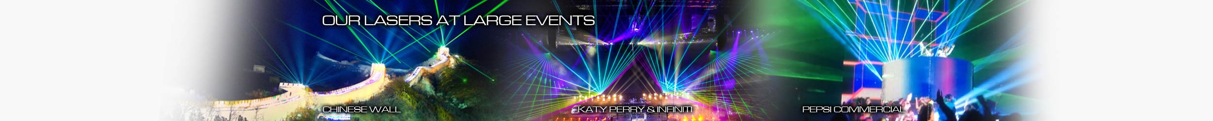 Laser Show at Chinese Wall, Katy Perry & Infiniti, Pepsi Commercial