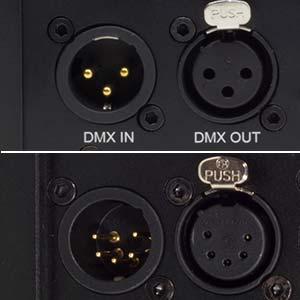 DMX-Anschlüsse 5-polig 3-polig