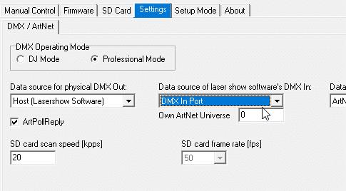 datasource dmx in