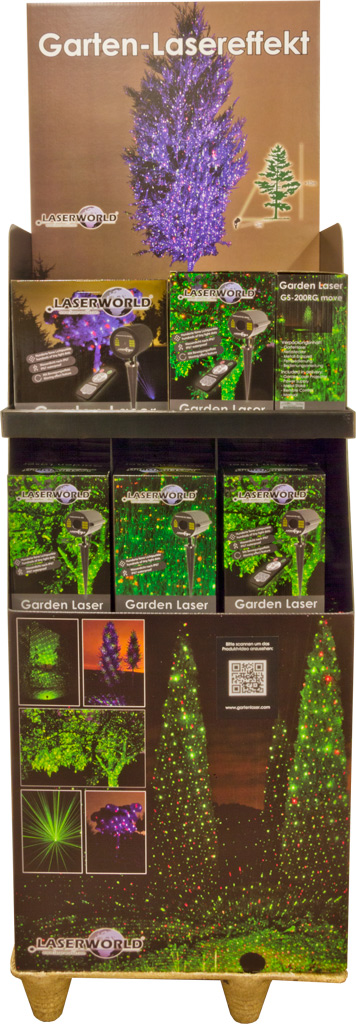 Laserworld POS display Garden Series front