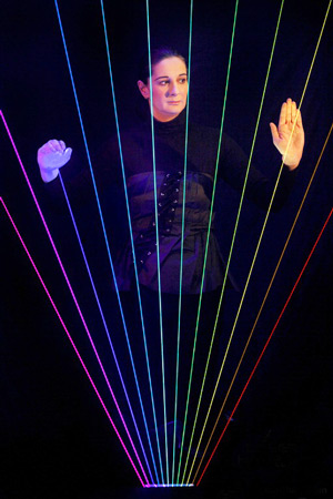 Full-color-laser-harp