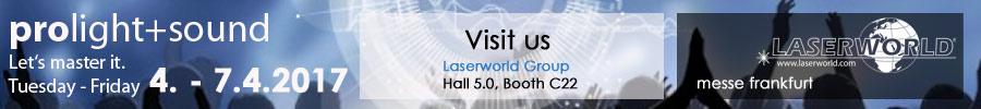 laserworld at prolight sound banner
