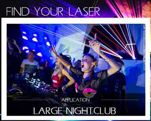 laser for large nightclub discotheque