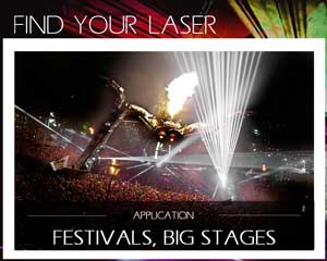 laser for festival big stage production