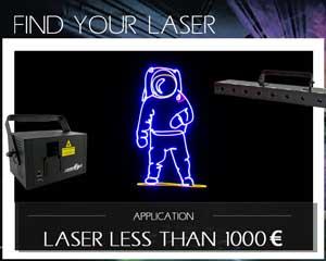 Trouvez votre Laser - Lasers à moins de 1000 €