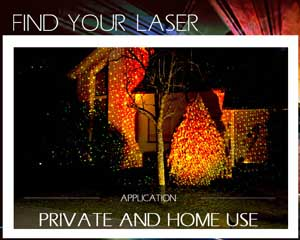 laser for private use party at home