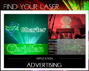 laser for advertising