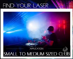 Find your laser small medium Club Disco