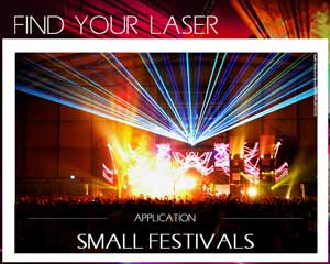 laser for festival and stage production