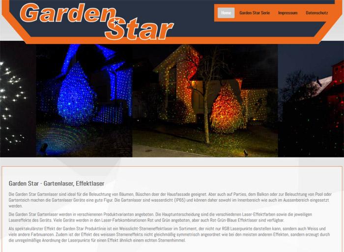 garden star webseite