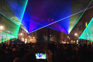 Laser Show @ New Year's Eve 2020 in Constance, Germany