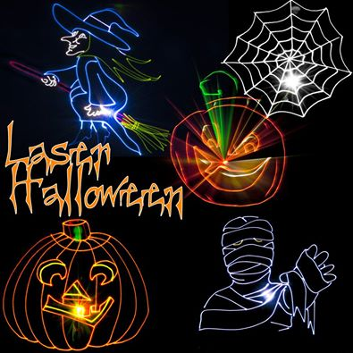 Halloween laser - Halloween laser light show ...