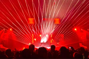 Laser Show for David Guetta in Brussels, Belgium