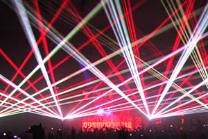 Cosmic Gate - The Palladium Hollywood, CA 2012 laser show