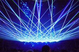 Lasershow at Paradiso, Netherlands