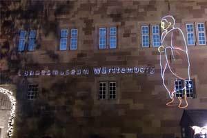 Laser Installation in Stuttgart, Germany laser show