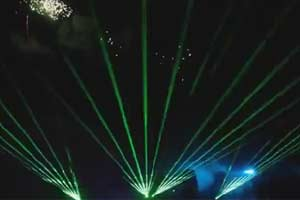 Laser Firework Alton Towers Resort
