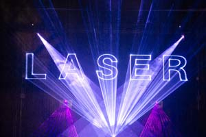 Lasershow at Prolight and Sound 2015, Frankfurt