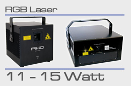 rental RGB laser 11-15 Watt