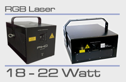 rental RGB laser 18-22 Watt