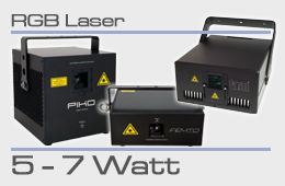 rental RGB laser 5-7 Watt