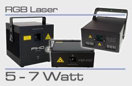 rental RGB laser 5-7 Watt