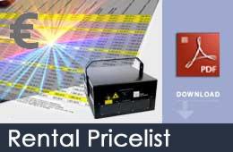 rental pricelist
