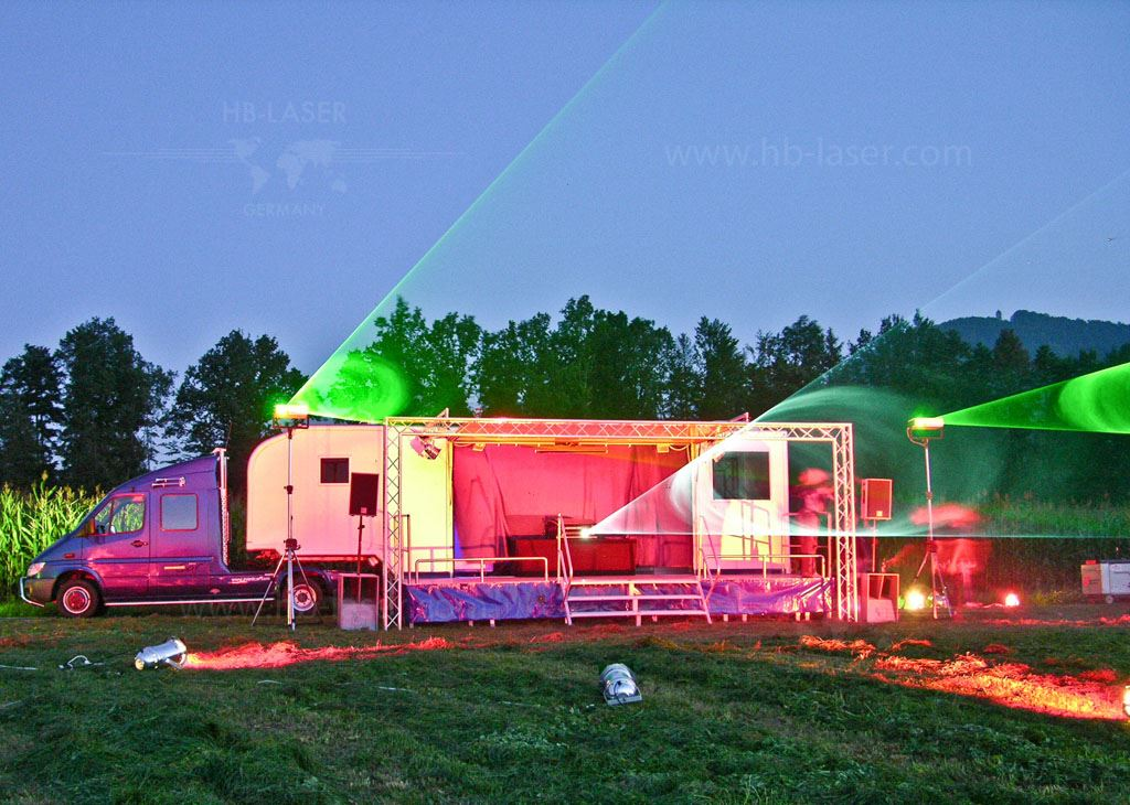 Laser show truck - Eventcar as mobile stage