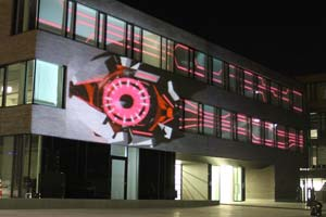 Bildungscampus Heilbronn - opening ceremony video mapping and laser mapping