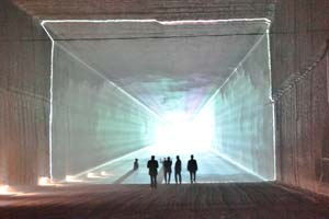 Multimedia installation @ Salt Mine Heilbronn, Germany 2012