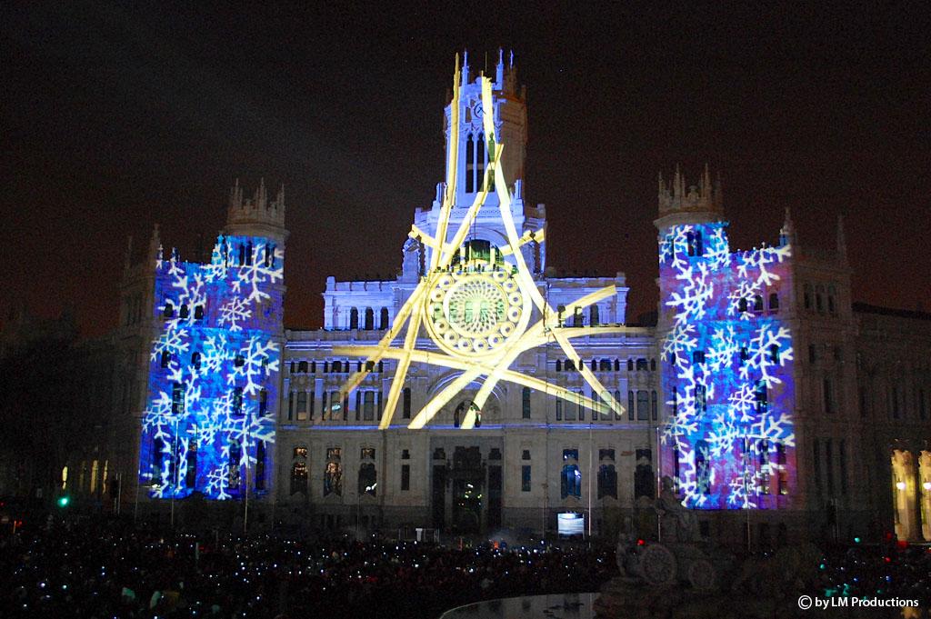 Multimedia-Show in Madrid -Weihnachten 2012