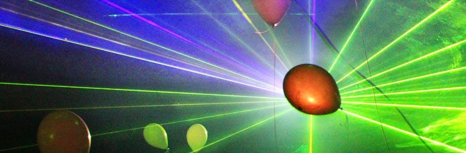 Super Lasershow für die Geburtsagsfeier @EA_95