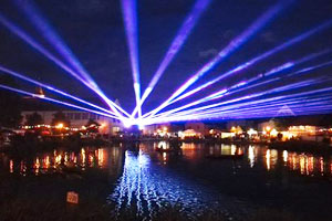 Outdoor Laser Show in Buechenbach / Germany