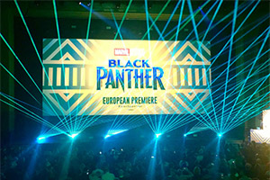 Laser Show @ Black Panther Premiere in London