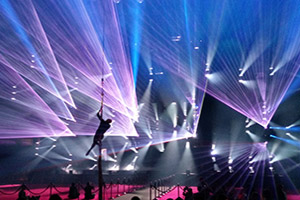 PRG Highlight Show @ Prolight+Sound Frankfurt 2018 laser show