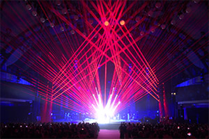 Laser show at LEA Awards 2018 to Conchita laser show