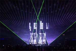 Laser show at LEA Awards 2018, Frankfurt, Germany laser show