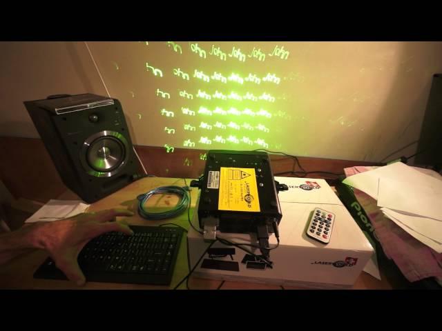 Laserworld El-200G Key Tex Showlaser great for the Mobile DJ
