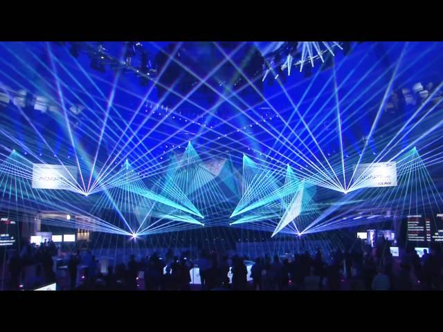 PRG/LEA Stage at prolight+sound 2016 - laser show with Laserworld lasers | Laserworld