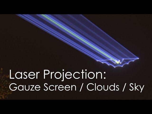 Sky Laser Projection / Cloud projection / Gauze Screen - Bat projection in the sky | Laserworld