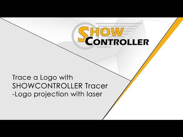 Trace a Logo with Showcontroller Tracer - Logo projection with laser | Showcontroller