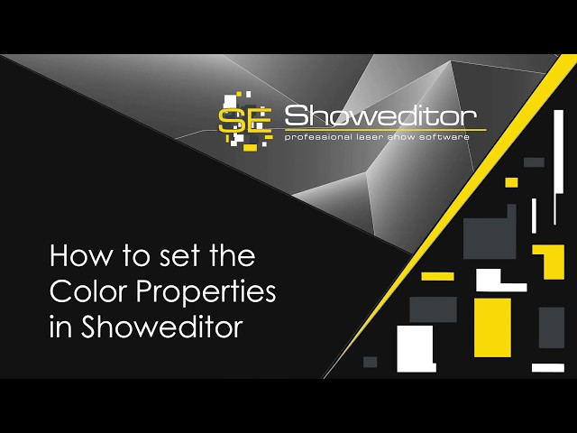 How to set the Color Properties in Showeditor