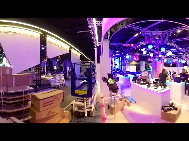 Build-up Prolight + Sound 2018 - Hall 5.0 in 360° Video | Laserworld